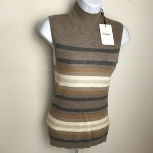 Theory 100% Cashmere Sleevless Sweater